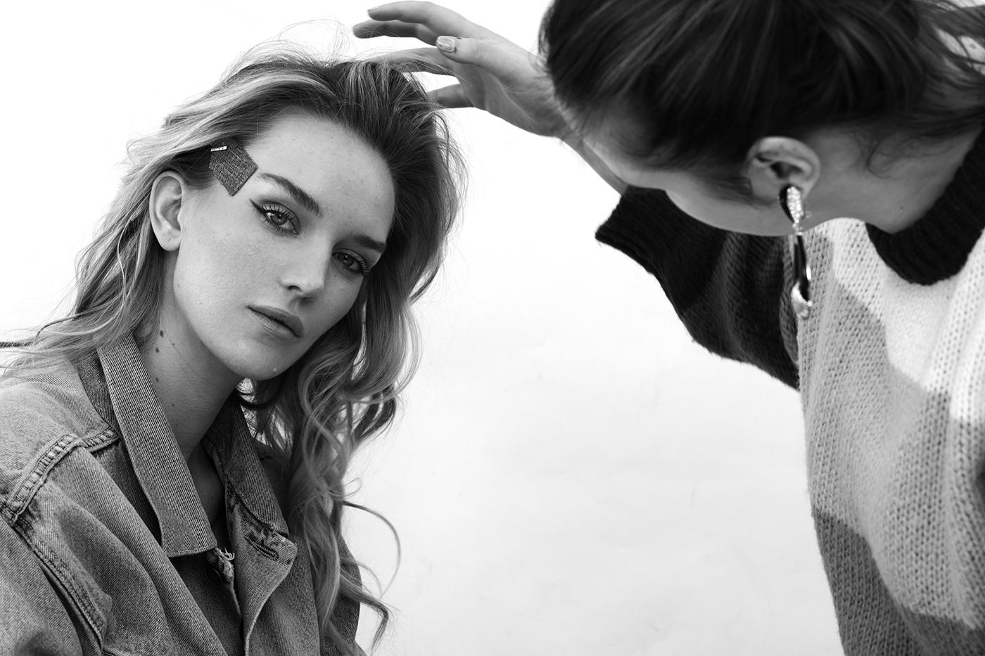 Backstage beauty shoot met karin van berkel en lotte concepts