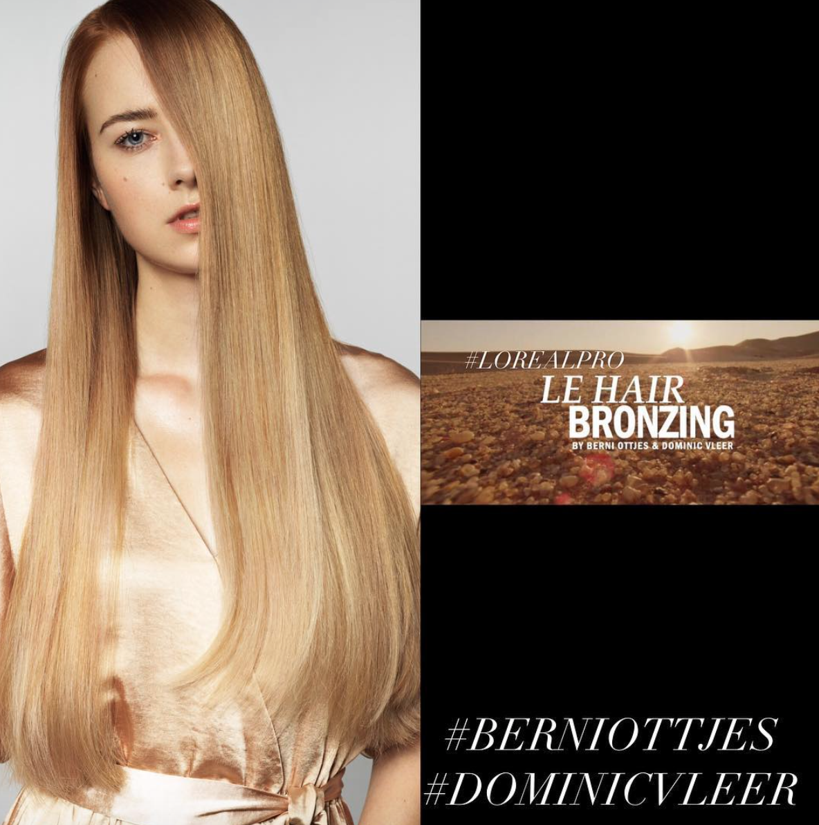 Dominic Vleer salon tof le hair bronzing