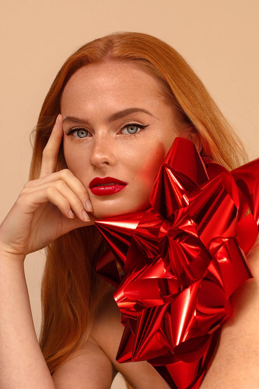 Christmas make-up karin van berkel